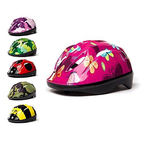 3StyleScooters® SafetyMAX® - Casco para Niños - 6 Diseños Increíbles Bicicleta y Patinete - Cinta Ajustable - Opciones para Niños de 4 a 11 Años de Edad