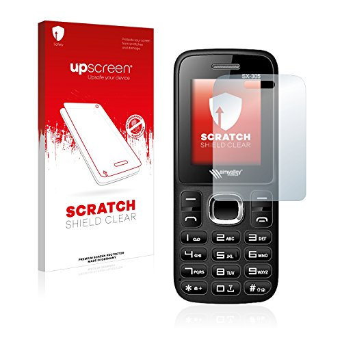 upscreen Schutzfolie kompatibel mit Simvalley Mobile SX-305 – Kristallklar, Kratzschutz, Anti-Fingerprint