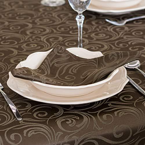 BgEUROPE - Tovaglioli di lusso, con trattamento anti macchia, colore marrone (6 tovaglioli, 45 x 45 cm)