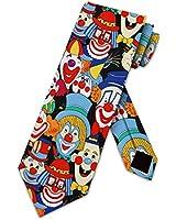 Big Clowns tie Mens Necktie by Three Rooker