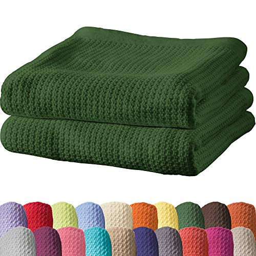 Erwin Müller Sommerdecke, Baumwolldecke - 2er-Pack - luftig-leicht, weiche Qualität, sehr angenehm - dunkelgrün Größe 150x200 cm - weitere Farben und Größen - 100% Baumwolle