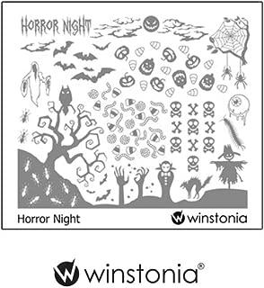 Winstonia Nail Stamping Plates Nail Art Image Manicure Template Halloween (Horror Night)