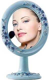 Desktop Makeup Mirror Single Side HD Portable Folding Portable Princess Mirror Mirror Size: 18.5 * 22CM