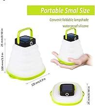 Uonlytech Lanterne Gonflable Chargeur Solaire USB lumi/ère /étanche Goutte r/ésistance Lampe Lanterne de Secours pour Le Camping en Plein air