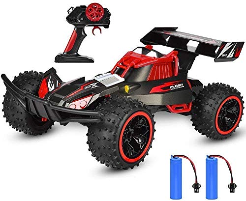 WGFGXQ 25Km / h All Terrain RC Car Professional 2.4GHz Radio Remote 1:16 Scale RC Racing Vehicle Toy con Dos baterías Recargables niños
