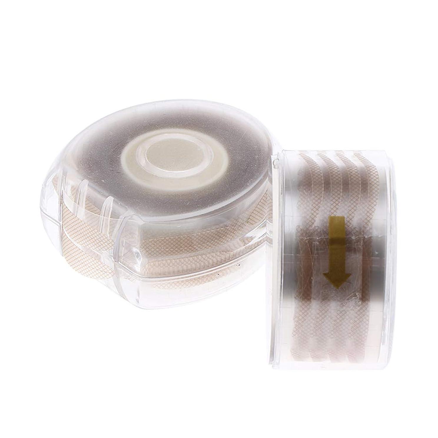鋼真珠のような素人二重まぶたテープ 粘着ステッカー 自然な メッシュ アイメイク メイク 2色選べ - ナチュラル
