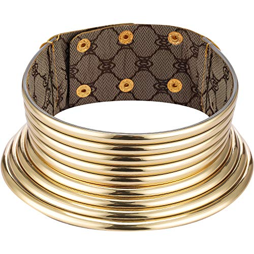 Gargantilla Africana Collar Punky Gótico Collar Africano Chunky Collar Africano Collares de Tono de Oro para Mujeres Hombres Regalo de Cumpleaños de Navidad