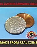US Quarter EXPANDED Coin Shell / Made from Real Coins! Premium Quality!
