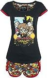 HARRY POTTER Chibi Allover Mujer Pijama Multicolor S, 100% algodón,