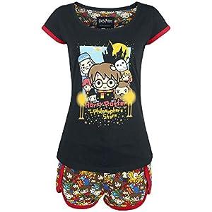 HARRY POTTER Chibi Allover Mujer Pijama Multicolor, , 6
