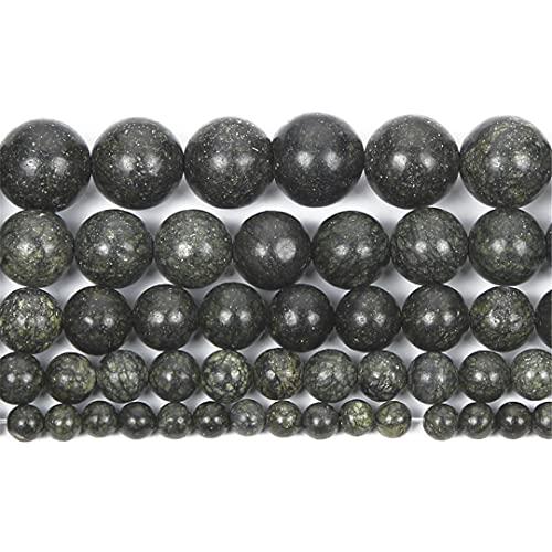 Cuentas de piedra natural Curbstone redondo cuentas sueltas para hacer joyas pulsera de costura DIY 4-12 MM H8116 12mm aproximadamente 30 piezas