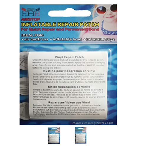 3-H Reparatur Pool Flicken, ca. 7.5 x 7.5 cm pro Flicken für Teich- und Poolfolien, Pool Reparatur (2)