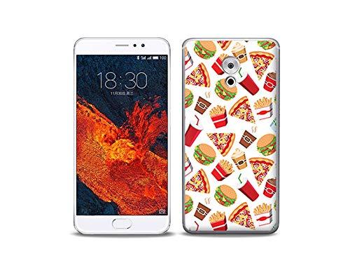 etuo Handyhülle für Meizu Pro 6 Plus - Hülle, Silikon, Gummi Schutzhülle - Fast Food