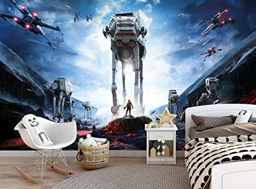Star Wars Wall Mural for Boys Children's Kids Teenager's Bedroom - Spaceship Battle Front - Photo Wallpaper Wall Decor W 366 cm x H 254 cm Wallpaper Murals Decals Picture Giant Paper Poster