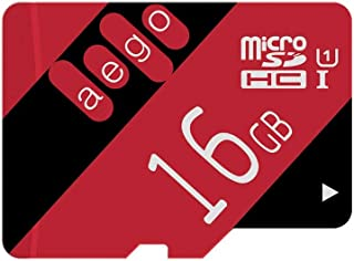 AEGO 2-Pack Micro SD Card 16GB Memory Card U1 for Action Camera Tablet Phone with SD Adapter (2 Pack U1-16GB)