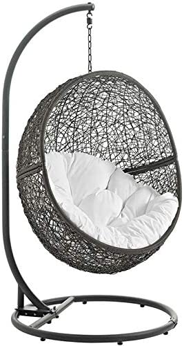 Hawthorne Collections Patio Swing Chair Reservation with in Stand and Gray Mail order cheap W