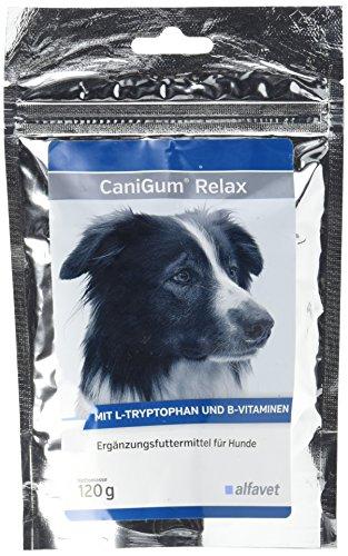 CaniGum® Relax Einheit: 120 g Ergänzungsfuttermittel für Hunde Mit L-Tryptophan und B-Vitaminen