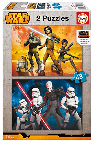Puzzles Educa - Star Wars Rebels, 2 x 48 Piezas (16168)