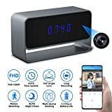 Spy Camera Clock, Monja Hidden Camera Clock, 1080p WiFi Cameras for Home, 150° Angle Nanny Cam, 24FT Auto IR Night Vision, Monitoring Detection, Loop Recording for Indoor Home Security