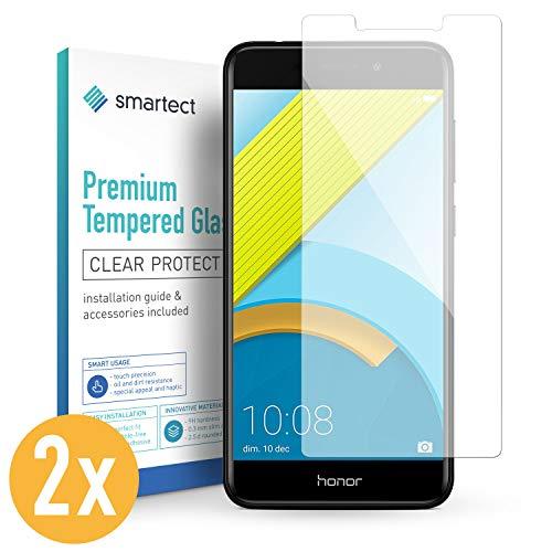smartect Panzerglas kompatibel mit Huawei Honor 6C [2 Stück] - Bildschirmschutz mit 9H Festigkeit - Blasenfreie Schutzfolie - Anti Fingerprint Panzerglasfolie