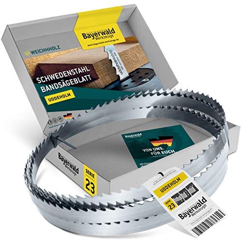 Bayerwald Uddeholm - Hoja de sierra de cinta (1425 x 10 x 0,5 x 6 mm, compatible con todo tipo de maderas/sierra de cinta para Einhell. Kity. Intercrenn. Rexon, Haager, Budget. Varo. Güde, etc.