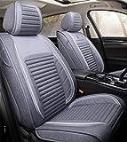 XHJZ-W Car Seat Cover Set Completo, Asiento de Coche del Amortiguador Ajustable 5 Revestimiento de Asientos Asiento de Cuero Impermeable del Coche Protector de Ajuste para la mayoría Coches,E