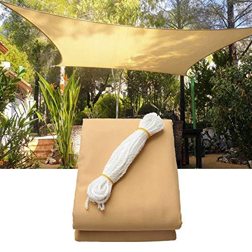 Tenda parasole da 2 m × 3 m, colore beige, rettangolare, quadrata, impermeabile, per esterni, giardino, patio, cortile, feste, spiaggia, protezione solare traspirante