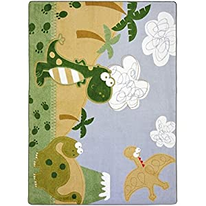 Dino Fun Kids Rugs Area Rug 5'4″ X 7'8″