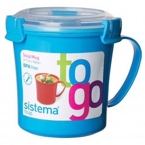 Sistema Suppenbehälter mit dicht schließendem Deckel 656 ml , Kunststoff, Blau