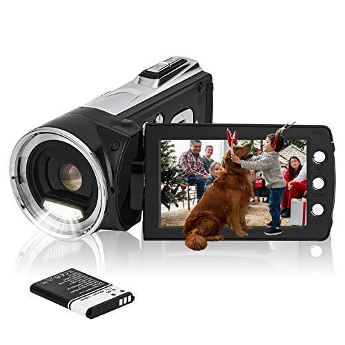 HG5162 Cámara de Video Digital 1080P FHD Videocámara / 2,7' Pantalla TFT LCD / 270 Grados de videocámara giratoria para niños/Principiantes/Ancianos