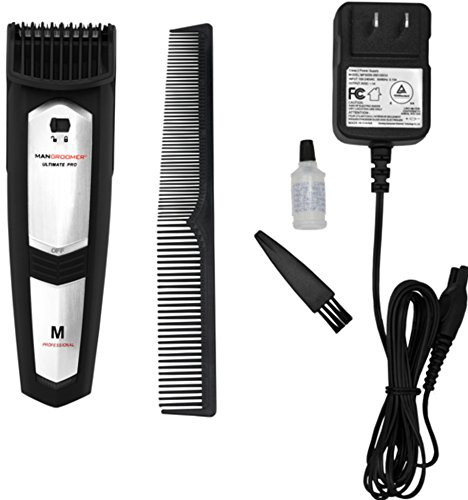 MANGROOMER Ultimate Pro Beard & Stubble Trimmer With 20 Built-In Lockable Length Settings for Precision Grooming! 1mm -> 20mm Range