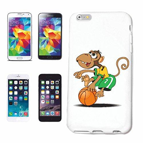 Reifen-Markt Hard Cover - Funda para teléfono móvil Compatible con Samsung Galaxy S4 i9500 REPRODUCCIÓN DE Baloncesto EN Mono Chimpancé del Gorila Posterior de la