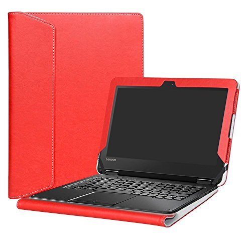Alapmk Protective Case Cover For 11.6' Lenovo N24 Windows & Lenovo N23 Windows/Lenovo 300e Windows Series Laptop,Red