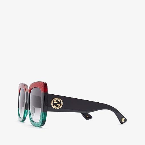 Glitter Red Black Glitter Emerald/Grey Gradient