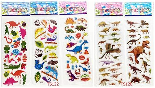 BLOUR dinosaurus dieren stickers, stereoscopisch, PVC, opblaasbaar, voor kinderen, party, verjaardag, Halloween, 5 stuks