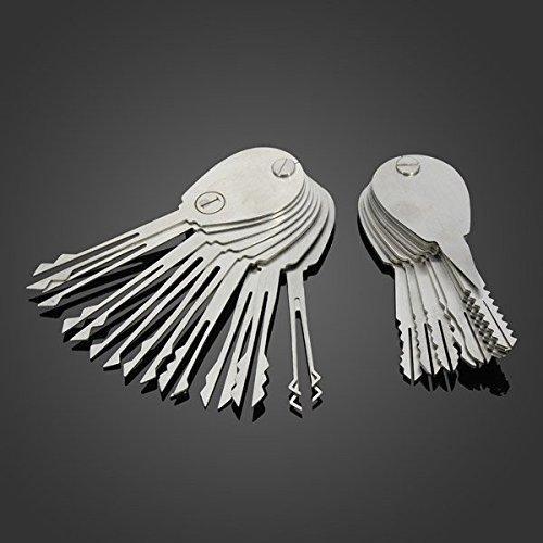 loboo 20psc Faltbar Auto Lock Opener Doppelseitig Lock Pick Set Schlosser Werkzeug