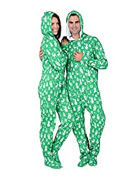 Footed Pajamas Nordic Christmas Adult Hoodie Cotton