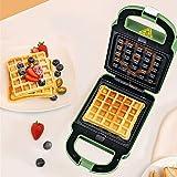 HHORD Mini Macchina per Waffle - Piastra per Waffle Antiaderente,Piastra Elettrica Acciaio Inossidabile   Rivestimento Antiaderente   Ricette Piatti Cottura Intensiva