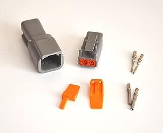 Deutsch DTM 2-pin Connector Kit with 20 Gauge Solid Terminals