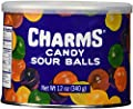 Charms Assorted Sour Balls 12oz Cannister