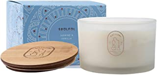 Distillery Soulful Jasmine and Vanilla Soy candle 450 g, 450 grams
