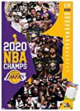 Trends International Los Angeles Lakers-2020 NBA Finals Celebration Wall Poster, 22.375' x 34', Poster & Mount Bundle