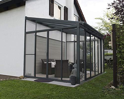 Palram Veranda San Remo Wintergarten, Grau, 295x425x310 cm