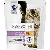 Perfect Fit Junior - Croquettes pour jeune chat stérilisé et chaton, riche en poulet, 6 sacs de 400g