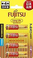 富士通 【Long Life】 アルカリ乾電池 単4形 1.5V 4個パック 日本製 LR03FL(4B)