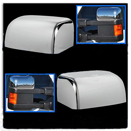 PerfecTech Super Duty Chrome Plated Mirror Covers Ultra Durable Top Half for 2008-2016 Ford F250 F350 F450(2 Pcs)