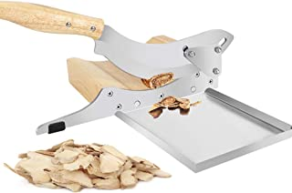 Moongiantgo Manual Chinese Medicine Slicer Medicinal Herbs Cutter with Detachable Magnetic Tray for Ginseng Antler Gastrod...