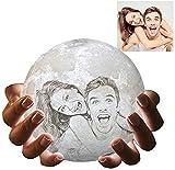 Lámpara de luna personalizada Gahaya foto personalizada impresa en 3D luz de noche creativa romántica con soporte y control táctil y regalos USB recargables 12 cm 3 colores