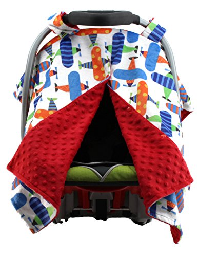 car seat canopy red color - 2