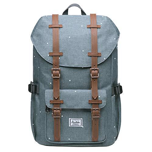"""KAUKKO Rucksack Studenten 15 Zoll Backpack für 13"""" Notebook Lässiger Daypacks Schüler Bag für Wandern 41cm, 16L, Mini"""